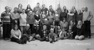 Gruppenfoto beim Chorwochenende im November 2012 in Neuenheerse bei Bad Driburg